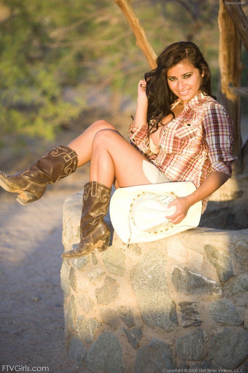 alexa loren busty cowgirl tits jeans skirt ftvgirls 17 800x1201