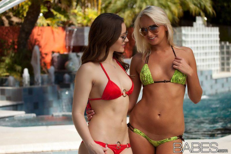 dani daniels ivana sugar bikini pool lesbian naked babes 01 800x533
