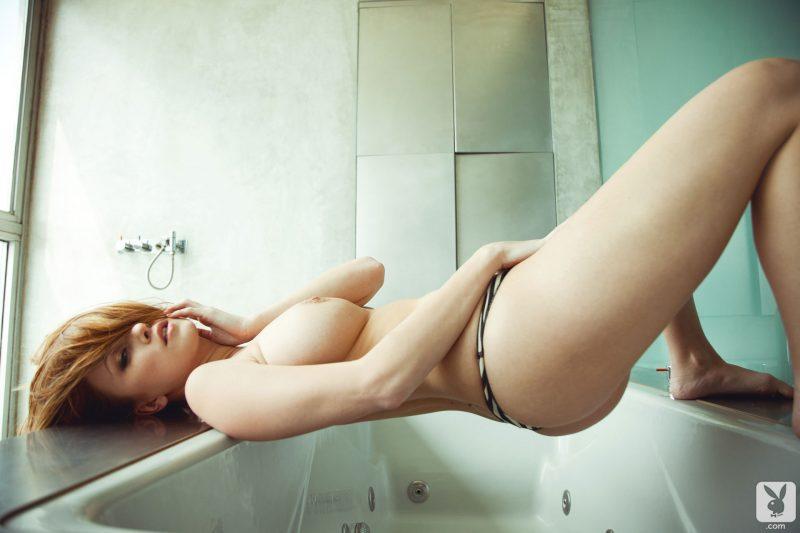 leanna decker shower bikini tits redhead nude playboy 13 800x533