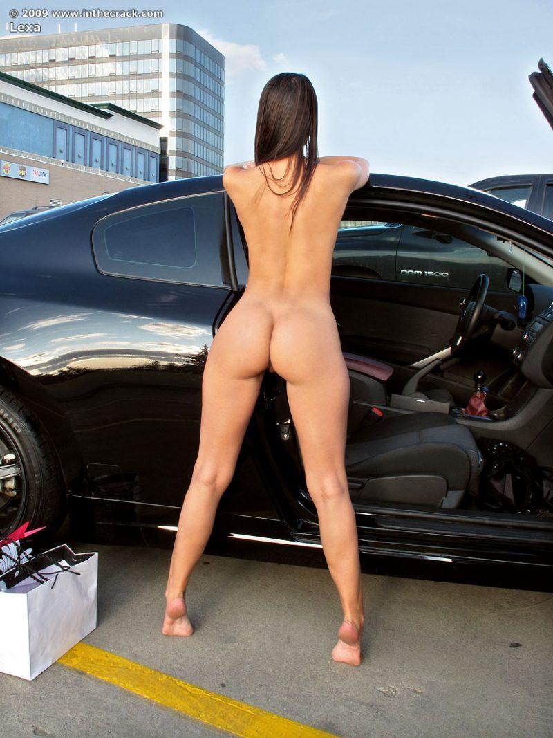 lexa parking nude public car inthecrack 14 800x1067