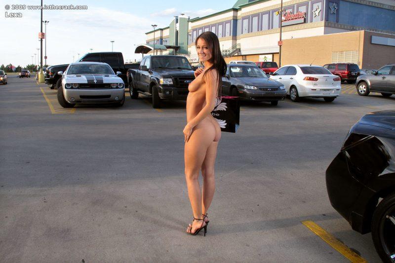 lexa parking nude public car inthecrack 16 800x533