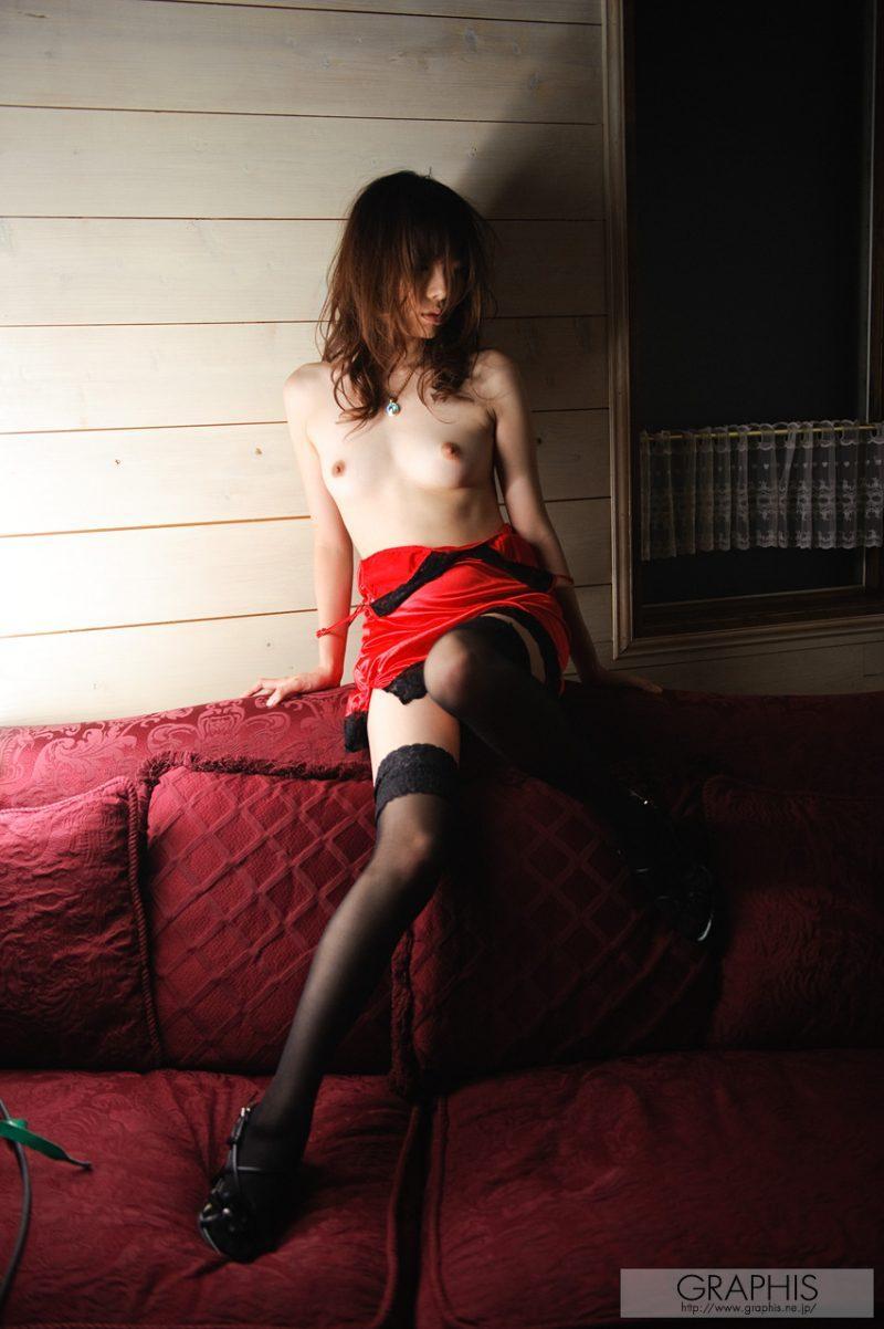 haruka mana red nighty stockings asian naked graphis 06 800x1202