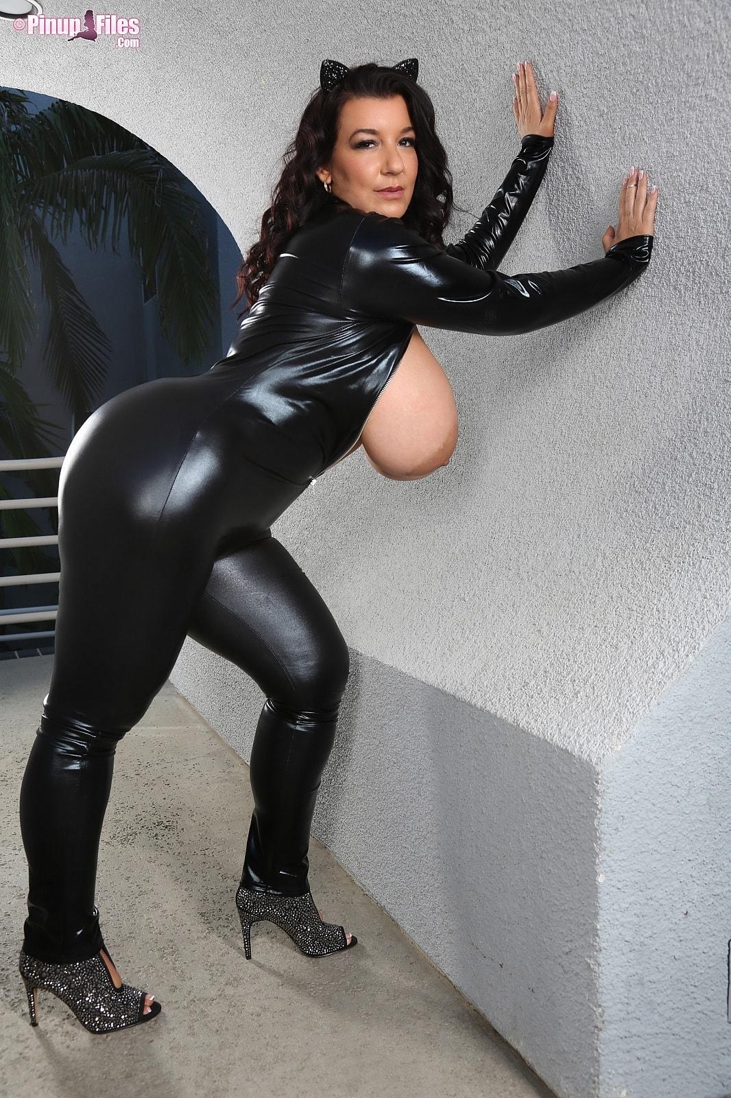 Busty cat woman