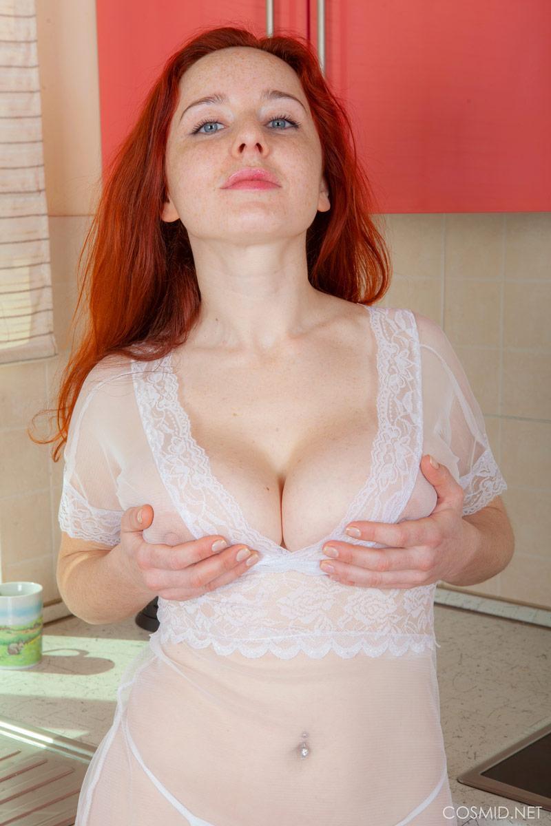Busty Pawg Paige Monroe Porn sara nikol - busty redhead in kitchen - bod girls