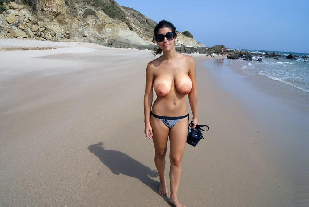 Tits big beach Huge Tits