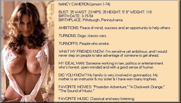 Cameron nude nancy Nancy Cameron